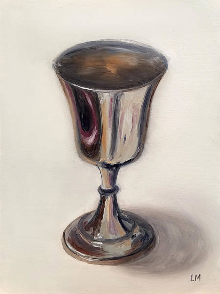 Painting - Silver Goblet by Linda Merchant