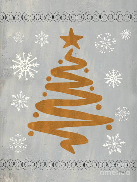 Presents Painting - Silver Gold Tree by Debbie DeWitt
