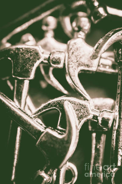 Steel Construction Wall Art - Photograph - Silver Hammers by Jorgo Photography - Wall Art Gallery