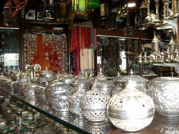Jewelery Photograph - Silver In The Arabian Souq by Sunaina Serna Ahluwalia