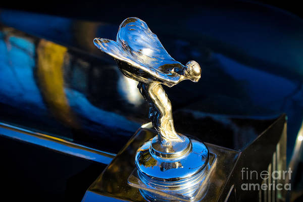 Rolls Royce Hood Ornament Photograph - Silver Lady by Colleen Kammerer