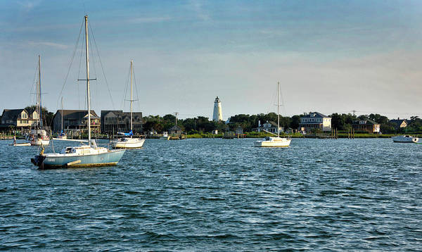 Wall Art - Photograph - Silver Lake And Ocracoke Island Lighthouse by Brendan Reals