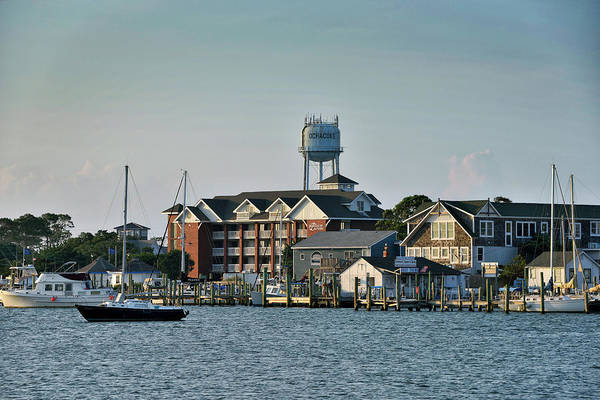 Wall Art - Photograph - Silver Lake And The Ocracoke Water Tower by Brendan Reals