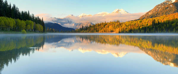 Awe Photograph - Silver Lake Panorama by Johnny Adolphson