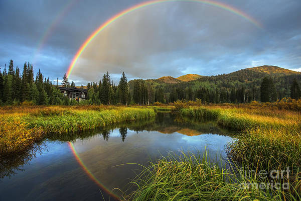 Photograph - Silver Lake Rainbow by Spencer Baugh