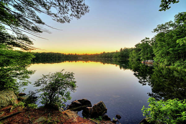 Photograph - Silver Lake Saugus Ma Breakheart Reservation At Sunset by Toby McGuire