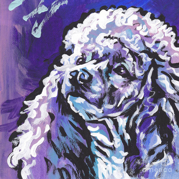 Poodle Wall Art - Painting - Silver Light by Lea S