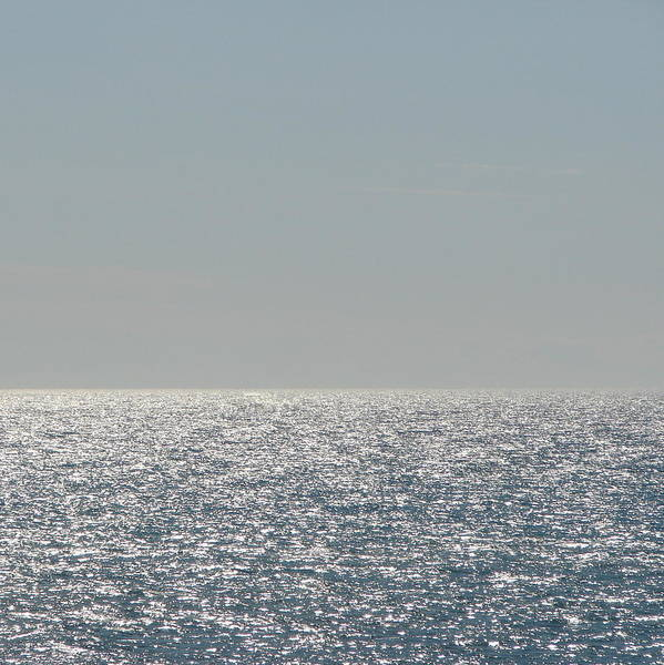 Photograph - Silver Light On Lake Michigan by Michelle Calkins