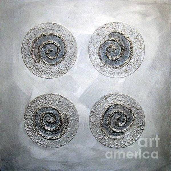 Mixed Media - Silver Lining Series Number Three by Marlene Burns