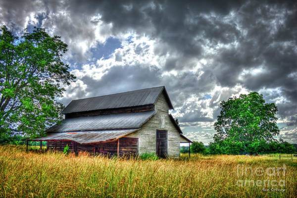 Photograph - Silver Lining Stormy Day Clouds Historic Barn Art by Reid Callaway