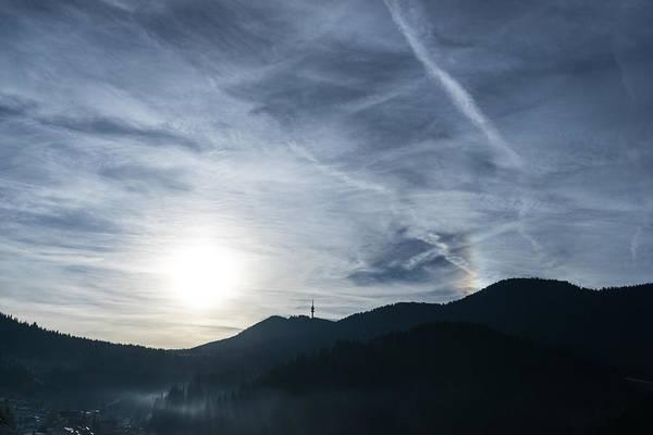 22 Degree Halo Wall Art - Photograph - Silver Mist And Rainbow Sundog - A Beautiful Mountain View by Georgia Mizuleva