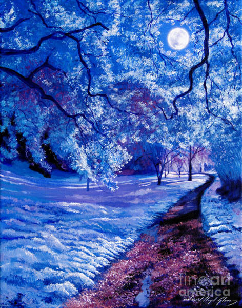 Painting - Silver Moon by David Lloyd Glover