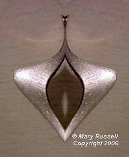 Digital Art - Silver Pendant by Mary Russell
