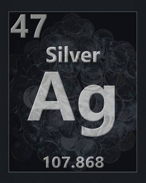 Silver And Gold Digital Art - Silver Periodic Table by Dan Sproul