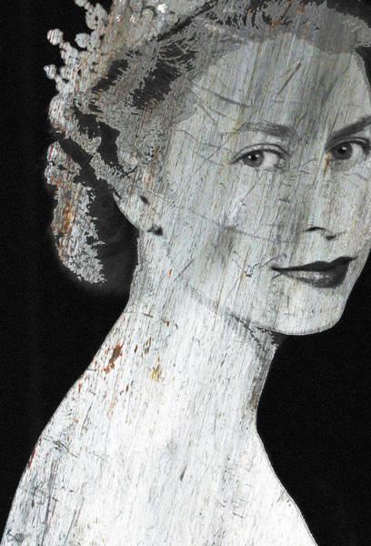 Mixed Media - Silver Queen Elizabeth  by Tony Rubino