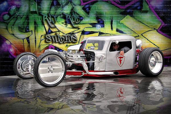 Rat Rod Wall Art - Digital Art - Silver Rat Rod ..... by Rat Rod Studios