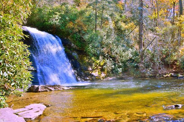 Photograph - Silver Run Falls Nc In Autumn by Lisa Wooten