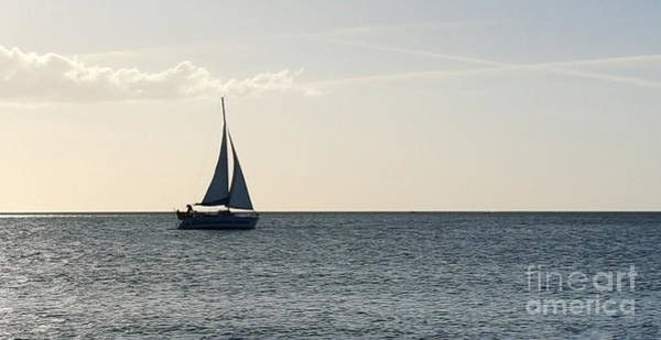 Photograph - Silver Sailboat by Jeanne Forsythe