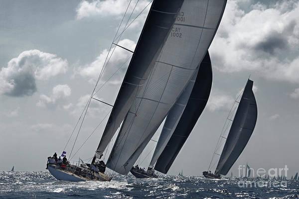 Carbon Fiber Photograph - Silver Sails by Eugenia Bakunova
