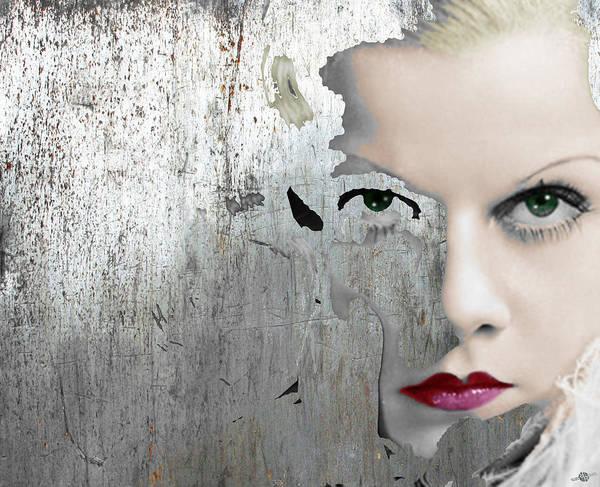 Painting - Silver Screen Jean Harlow 2 by Tony Rubino