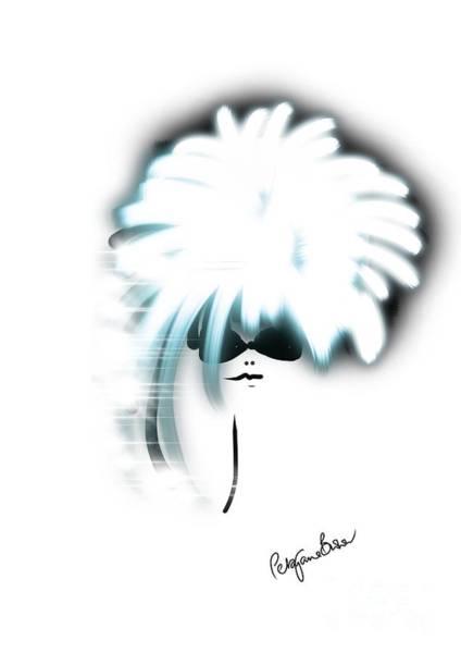 Hairdo Digital Art - Silver Sparkle by Peta Brown