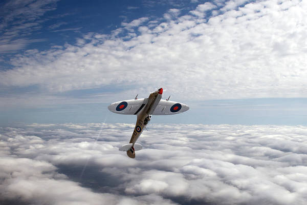 Photograph - Silver Spitfire Slipping The Surly Bonds Wide Version by Gary Eason