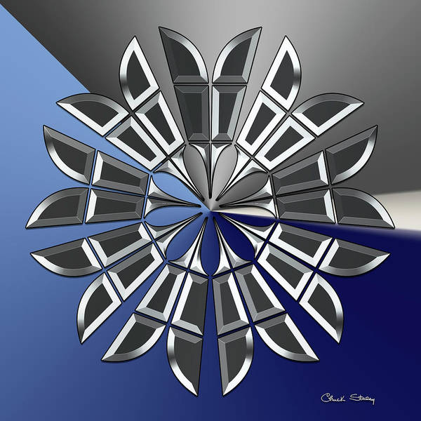 Digital Art - Silver Star 3 by Chuck Staley