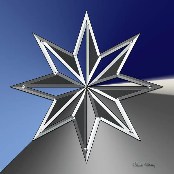 Digital Art - Silver Star by Chuck Staley