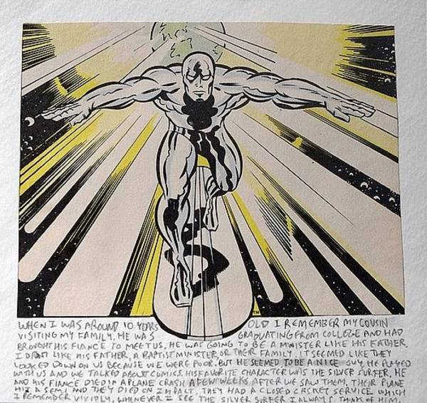 Cosmos Drawing - Silver Surfer by William Douglas
