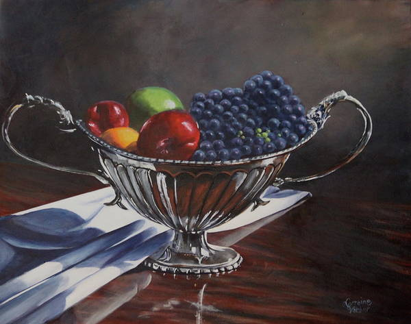 Prince Edward Island Painting - Silvered Fruit by Lorraine Vatcher