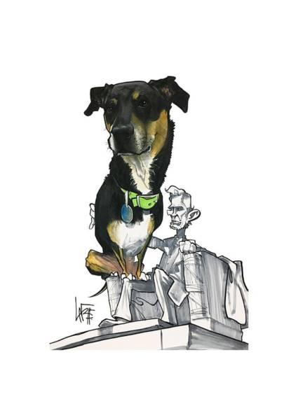 Pet Portrait Drawing - Silverman 3012 by John LaFree