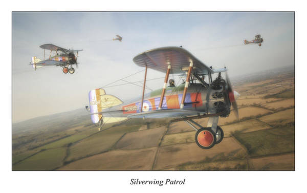 Ww1 Digital Art - Silverwing Patrol by Anastasios Polychronis