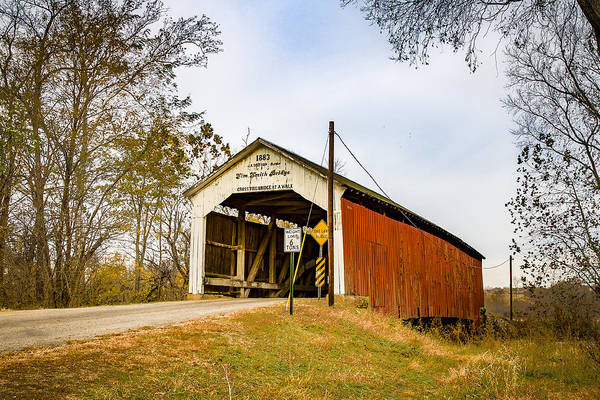 Photograph - Sim Smith Covered Bridge by Jack R Perry