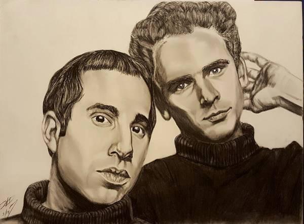Simon And Garfunkel Painting - Simon And Garfunkel  by David Peninger