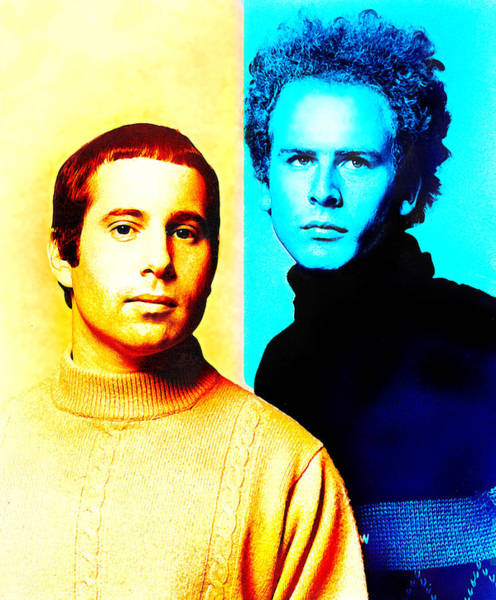 Simon And Garfunkel Mixed Media - Simon And Garfunkel by Mal Bray