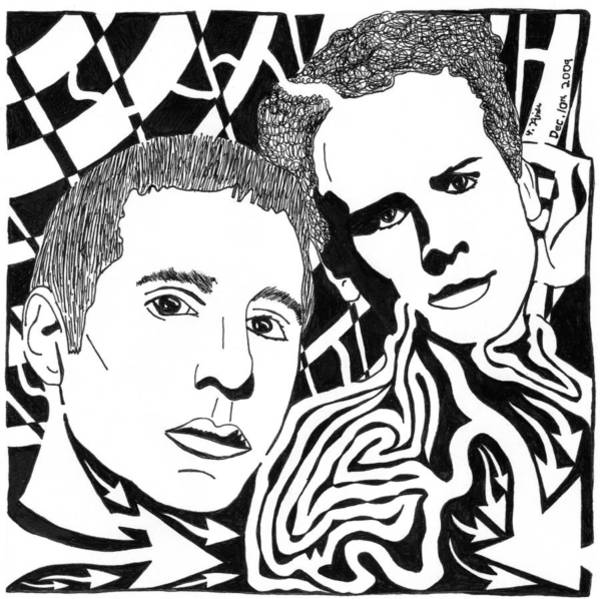 Simon And Garfunkel Painting - Simon And Garfunkel Maze by Yonatan Frimer Maze Artist