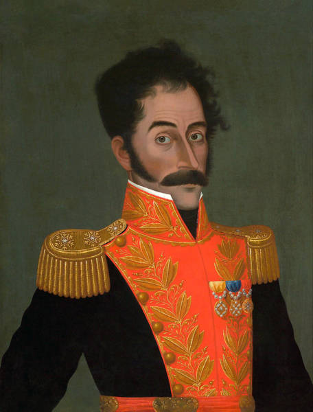 Colonization Wall Art - Painting - Simon Bolivar Painting - Jose Gil De Castro by War Is Hell Store