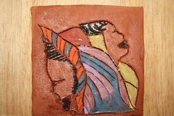 Ceramic Art - Simona And Martha - Tile by Gloria Ssali