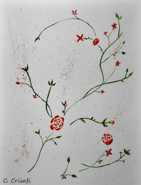 Painting - Simple Flowers #1 by Carol Crisafi