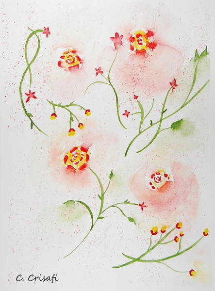Painting - Simple Flowers #2 by Carol Crisafi
