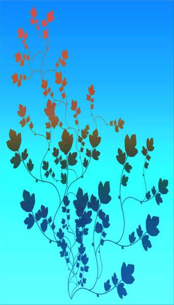Granite Digital Art - Simple Leaves 2 by Evelyn Patrick