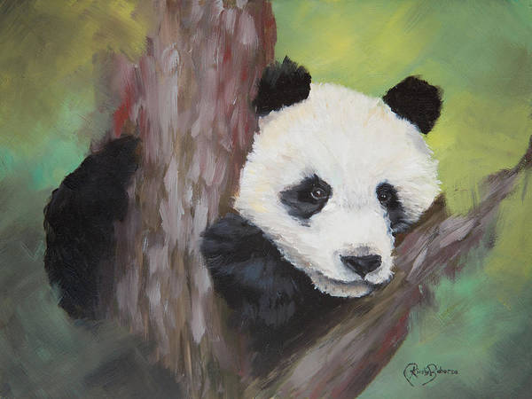 Panda Painting - Simple Life by Kirsty Rebecca