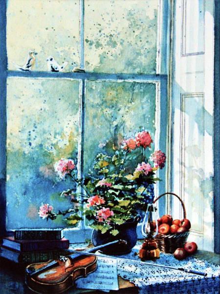 Doily Painting - Simple Pleasures by Hanne Lore Koehler