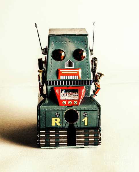 Figurine Wall Art - Photograph - Simple Robot From 1960 by Jorgo Photography - Wall Art Gallery