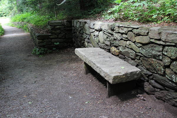 Photograph - Simple Stone Bench by Allen Nice-Webb