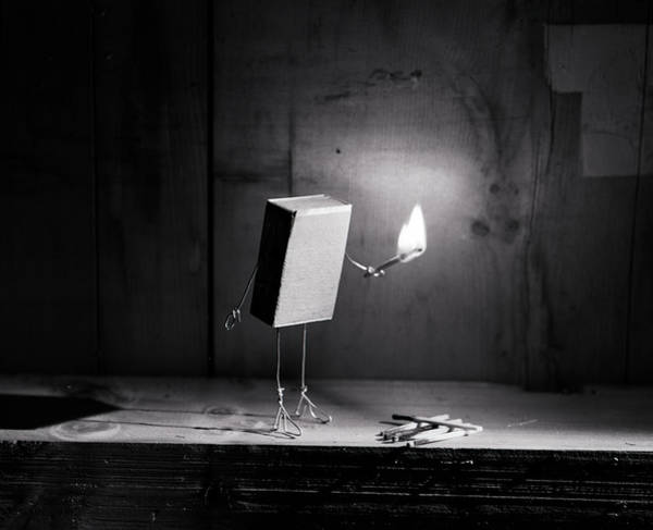 Comical Wall Art - Photograph - Simple Things - Light In The Dark by Nailia Schwarz