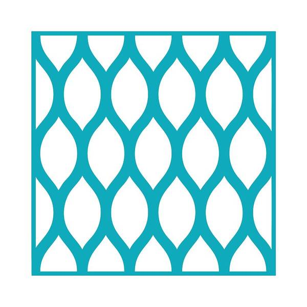 Robin's Egg Blue Digital Art - Simplified Latticework With Border In Robin's Egg Blue by Custom Home Fashions