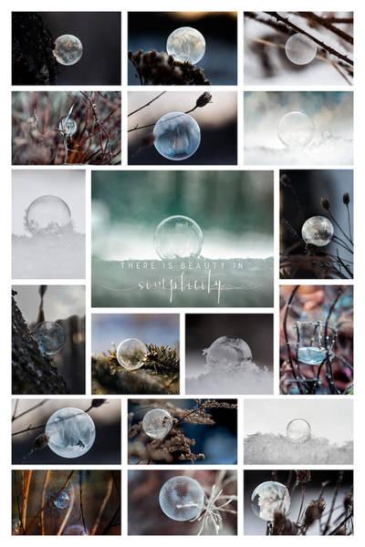 Photograph - Simplistic Beauty Bubble Collage by Christina VanGinkel