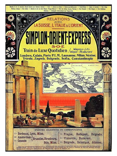 Wall Art - Painting - Simplon - Orient Express  by Long Shot