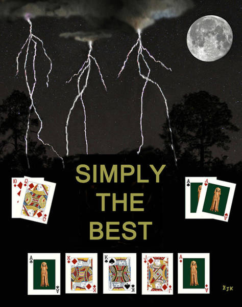 Mixed Media - Simply The Best Poker Cards by Eric Kempson